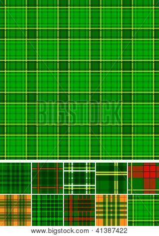 Tartan, plaid seamless 10 patterns.