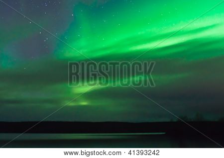 Northern Lights Behind Clouds