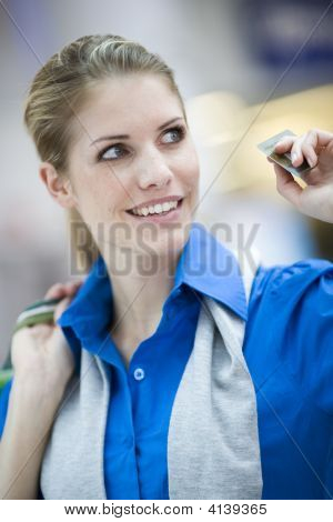 Young Woman With Payment Card