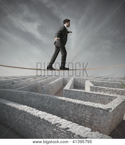 Businessman Bypass The Maze