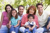foto of extended family  - Three generation Families in a park - JPG