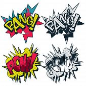 Bang Pow Illustrated Vector Comic Graphic