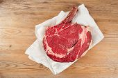 picture of rib eye steak  - Bone - JPG