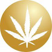 Marijuana Leaf Illustration poster