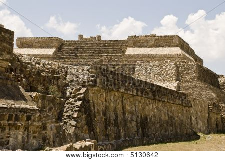 Ancient Structure Of Stone In Monte Alban, Mexico