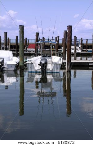 Fishing Boat In Slip