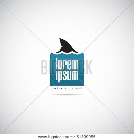 Shark of business logo template