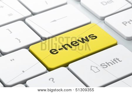 News concept: computer keyboard with E-news