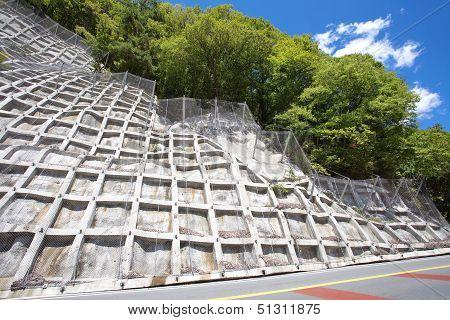 construction steel netting protection landslide hill