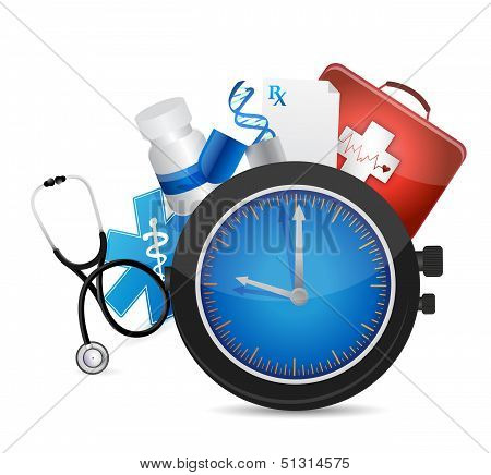Medical Time Concept Illustration Design