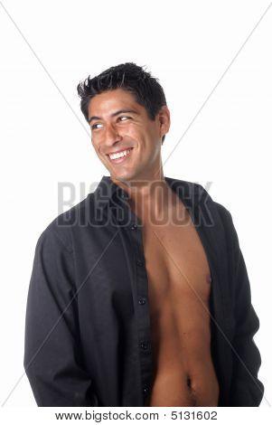 Black Unbottoned Shirt