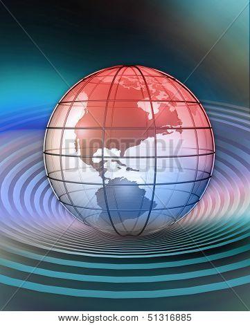 Globe, North America