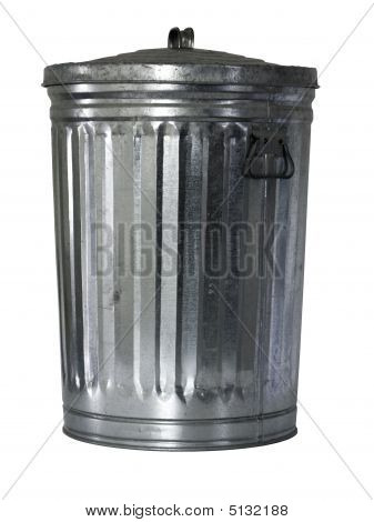 Trash Can, Close, Isolated