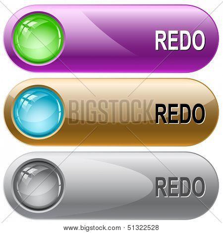 Redo. Internet buttons. Raster illustration.
