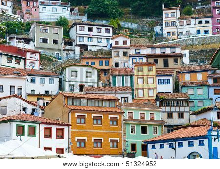 Colorful houses in Cudillero, Asturias, Spain