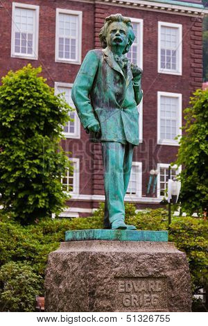 Statue Of Composer Edvard Grieg - Bergen Norway