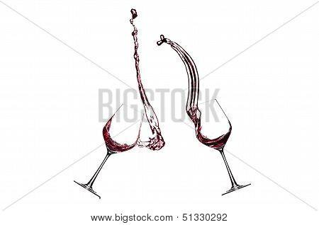 Splashing Glasses