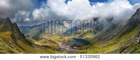 Balea Lac From Fagaras Mountains