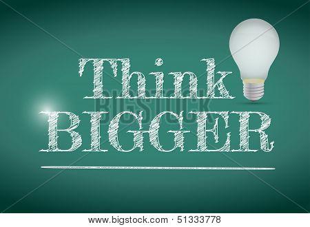 Think Bigger Light Bulb Illustration Design