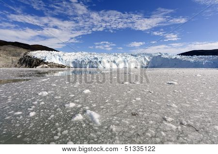 The Eqi Glacier in Greenland