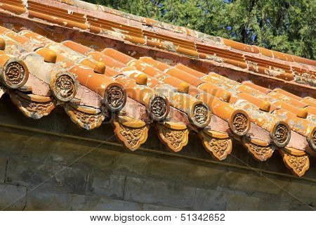 Fancy Glazed Tile In The Eastern Royal Tombs Of The Qing Dynasty, China