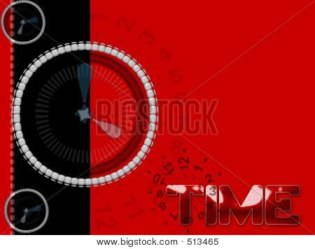 Clock Time Hours Seconds Layout