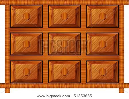 Wooden Cabinet For Small Items