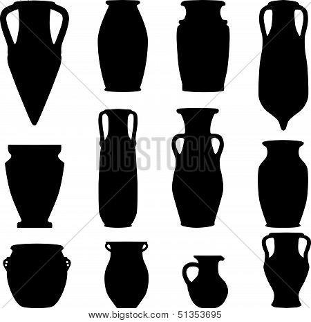 Greek Amphora Silhouette