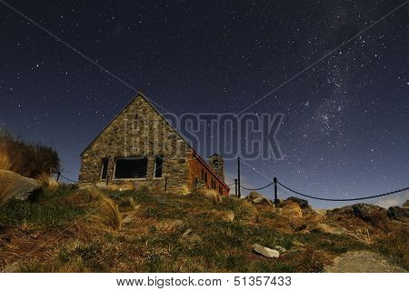 Church Under Milky Way