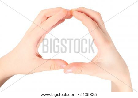 Hands Represents Letter O From Alphabet