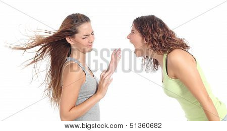 Woman Shouting Angry To Another One