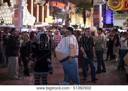 Halloween Night Downtown Las Vegas, October 31St, 2012.
