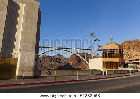 Hoover Dam And New Bridge In Boulder City, Nv On May 13, 2013