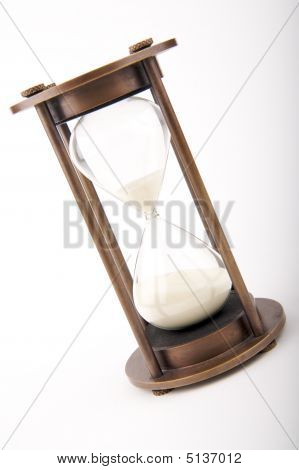 Hourglass Against White Background