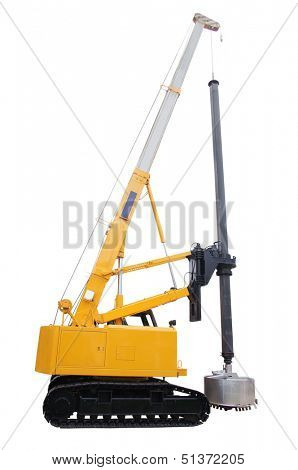 machine for drilling holes isolated under the white background