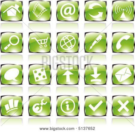 Green Shiny Icons