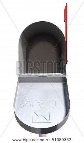 Old School Retro Metal Mailbox Open