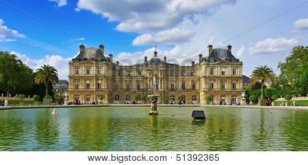 PARIS, FRANCE- MAY 15: View of Jardin du Luxembourg on May 15, 2013 in Paris, France. With 224,500 square meters, this is the second largest public park in Paris