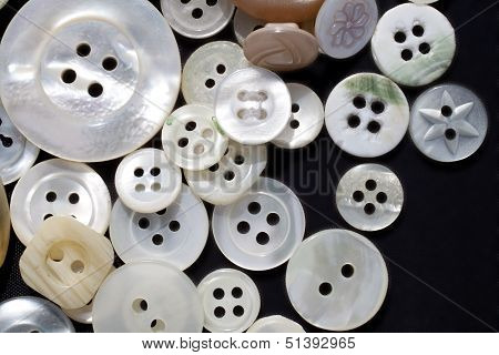 Mother-of-pearl buttons