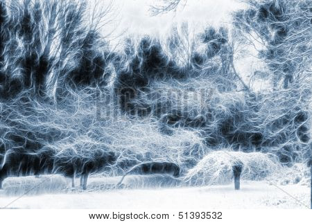 Trees Landscape Abstraction