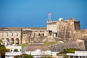 foto of el morro castle  - Old historic El Morro Castle located in San Juan Puerto Rico - JPG