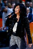 NEW YORK-SEP 23: Singer Cher performs on NBC's Today Show at Rockefeller Plaza on September 23, 2013