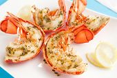 stock photo of lobster  - Grilled lobster tails - JPG