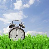foto of daylight-saving  - time concept  - JPG