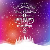 stock photo of christmas greetings  - Christmas Greeting Card - JPG