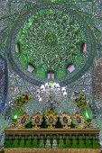 stock photo of shiraz  - Mirrored interior of Ali Ibn Hamza shrine in Shiraz Iran - JPG