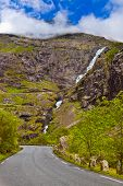 Stigfossen Waterfall And Troll's Path - Norway