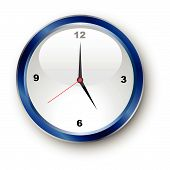 pic of clocks  - Illustration of a generic clock showing five o clock - JPG