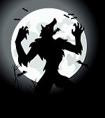 pic of werewolf  - it is a dangerous werewolf in vector - JPG