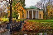 image of tsarskoe  - Autumn landscape in Catherine park Pushkin Russia - JPG